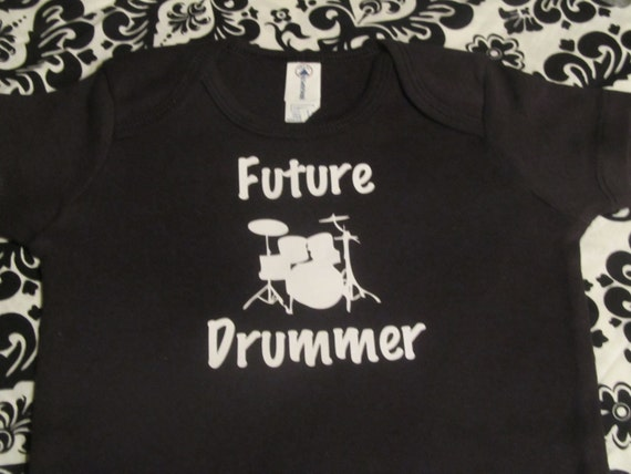 future drummer cool band drums custom baby infant bodysuit blue boy/'s size 6-12 months last one