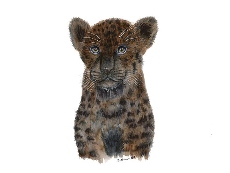 6f3df252bd3 Black Jaguar Print Jungle Nursery Art Panther Wall Art