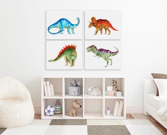 Canvas Dino Wall Art Dinosaur Kids Room Decor Canvas Big | Etsy