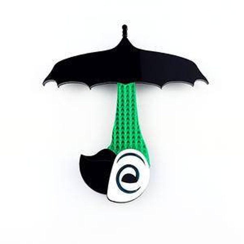 Mary Poppins Regenschirm Brosche Mit Vogel Griff Etsy
