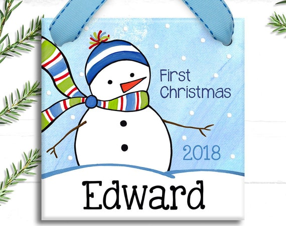 Baby's First Christmas Ornament - Baby Ornament - Personalized Christmas - Babies First Christmas - Baby's 1st Christmas - Baby Boy Gift