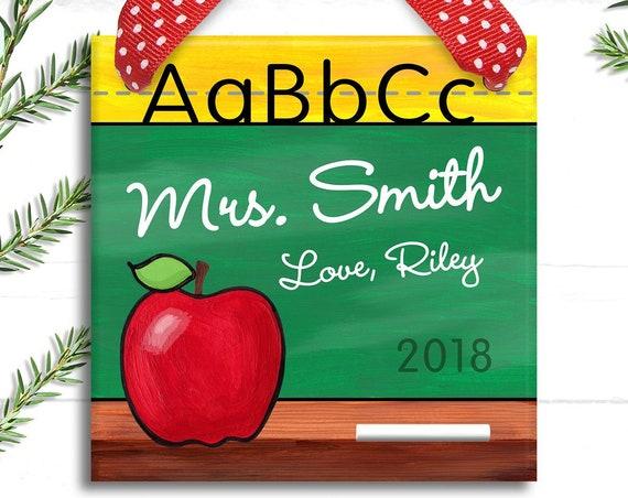 Teacher Gift - Teacher Ornament - Teacher Appreciation Gift - Preschool Teacher Gift  - Christmas Teacher Gifts - Teacher Sign