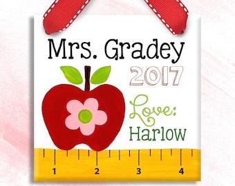 Teacher Gift -Teacher Appreciation Gift - Preschool Teacher Gift  - Christmas Teacher Gifts - Teacher Ornament - Teacher Sign