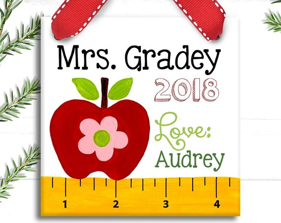 Teacher Gift -Teacher Appreciation Gift - Preschool Teacher Gift  - Christmas Teacher Gifts - Teacher Ornament - Teacher Sign