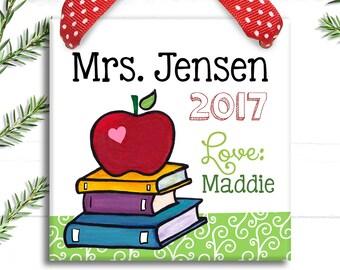 Teacher Gift - Teacher Appreciation Gift - Preschool Teacher Gift  - Christmas Teacher Gifts - Teacher Ornament - Teacher Sign