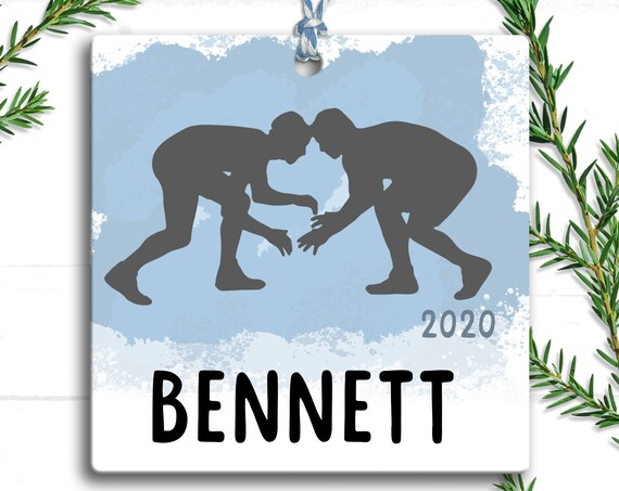 Westling Ornament, Personalized Christmas Ornament Wrestling, Wrestling Mom, Christmas Gifts for Boy, Wrestling Coach Gift, Sports Ornament