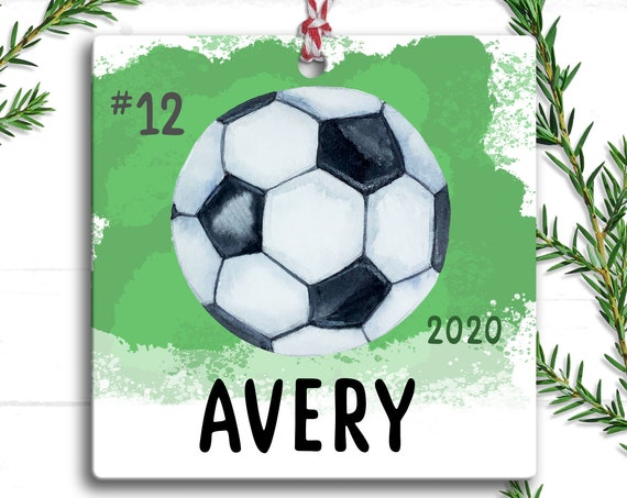 Soccer Ornament, Personalized Soccer Gift, Soccer Christmas Ornament, Soccer Mom, Soccer Ball Ornament, Gift for Soccer Team, Soccer Coach