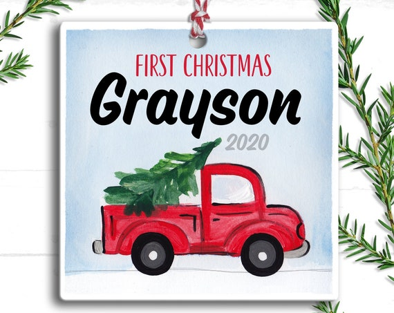 Baby Boy Christmas Ornament -  Babys First Christmas Ornament Personalized - Baby's First Christmas Ornament - Boy Baby Christmas Ornament
