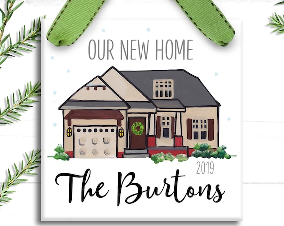 Our New Home Ornament - Christmas Ornament - New House Gift - Housewarming Present - Our 1st Christmas - Our New Home - Farmhouse Ornament