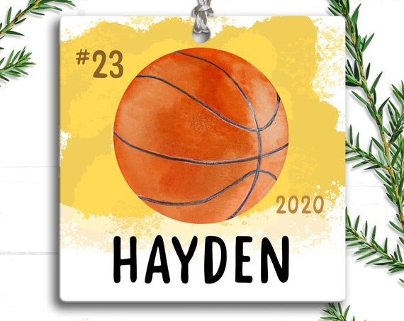 Basketball Ornament, Personalized Christmas Ornament Basketball, Sports Ornament, Christmas Gifts , Basketball Player, Basketball Coach Gift