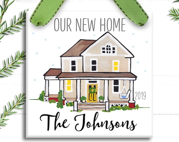 Our New House Ornament - Our First Home Ornament - Farmhouse Christmas - New House Personalized Christmas Ornament - Housewarming Gift