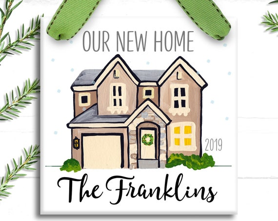 New Home Ornament - Our First Christmas in Our New Home Ornament- personalized gift - Christmas Ornament - Housewarming Gift