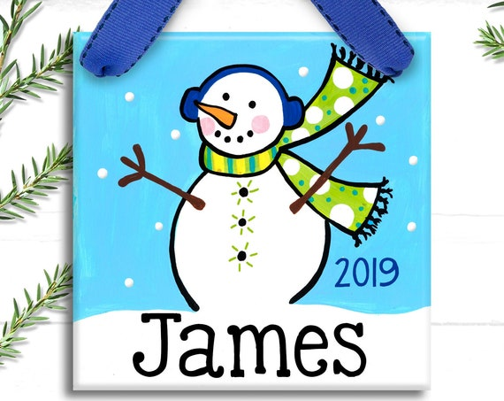 Personalized Christmas Ornament - Kids Christmas Gift - Christmas Gift Ideas - Family Ornament - Personalized Ornament - Snowman Ornament