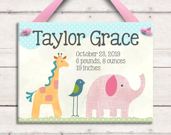 Personalized Baby New Baby Gift Newborn Baby Gift Personalized Baby Gift Nursery Decor Birth Announcement New Baby Gift Personalized Baby