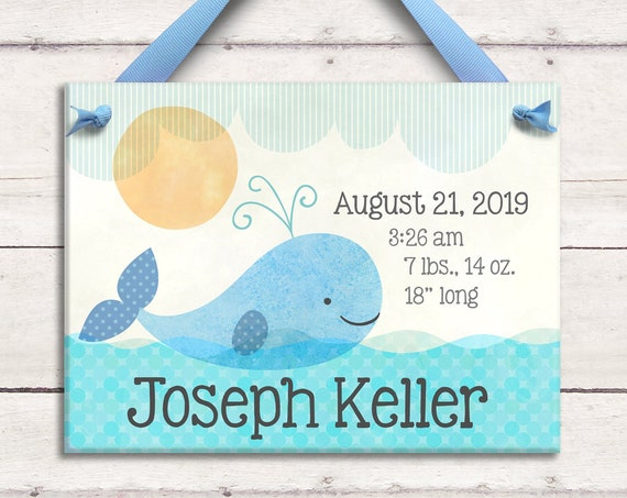 Nautical Nursery - Personalized Baby Boy Gifts - Nautical Baby Shower - Nautical Nursery Art - New Baby Gift - Personalized Ceramic Tile i