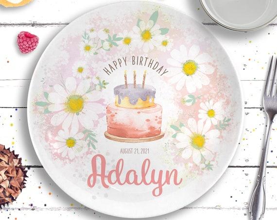 Daisy Personalized Birthday Plate and Mug, Daisy Birthday Party, Retro Vibes, Boho Babe, Baby's First Birthday, 1st Birthday Gift for Girl
