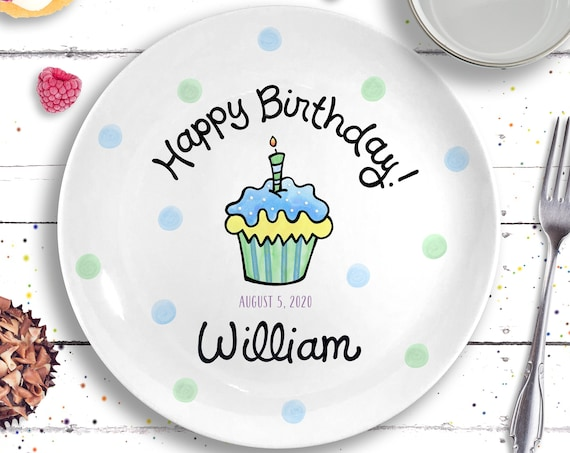 1st Birthday Boy Gift - Personalized Ceramic Birthday Plate - Baby Boy Gift - First Birthday Plate - Unique Baby Boy Gift - Birthday Party