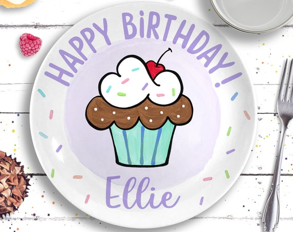 Birthday Girl, Personalized Birthday Ceramic Plate for Girl, Birthday Gift for Girl, Smash Cake Plate, First Birthday Girl, 1st Birthday