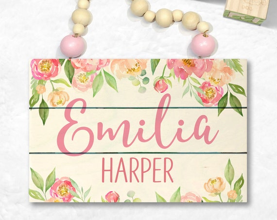 Blush Pink Custom Wood Name Sign - Baby Girl Nursery Name Sign - Baby Shower Gift - Personalized Baby Gift - Shiplap Name Sign - Custom Girl