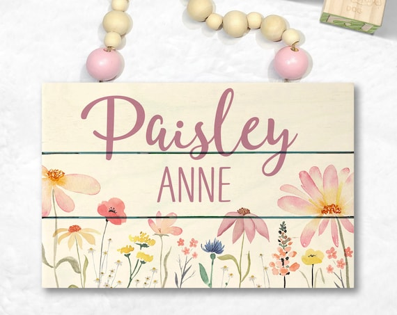 Wood Name Sign for Girl - Nursery Name Sign Girl - Baby Name Sign - Personalized Baby Shower Girl - Nursery Wall Art - Custom Wood Name Sign