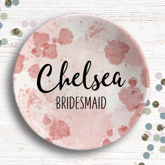 Wedding Party Gift - Bridesmaid Gift - Personalized Ring Dish - Bridal Party Gift - Bride Tribe - Bridesmaid Proposal - Gift for Bridesmaid