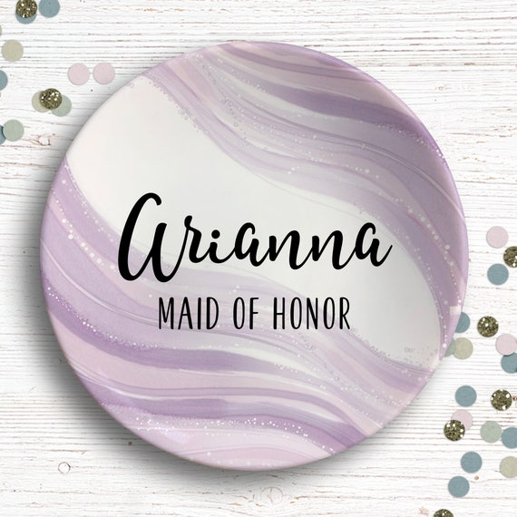 Mauve Bridal Ring Dish - Maid of Honor Personalized Gift - Gift from Bride - Bridal Party Gifts - Dusty Mauve Bridesmaids - Jewelry Dish