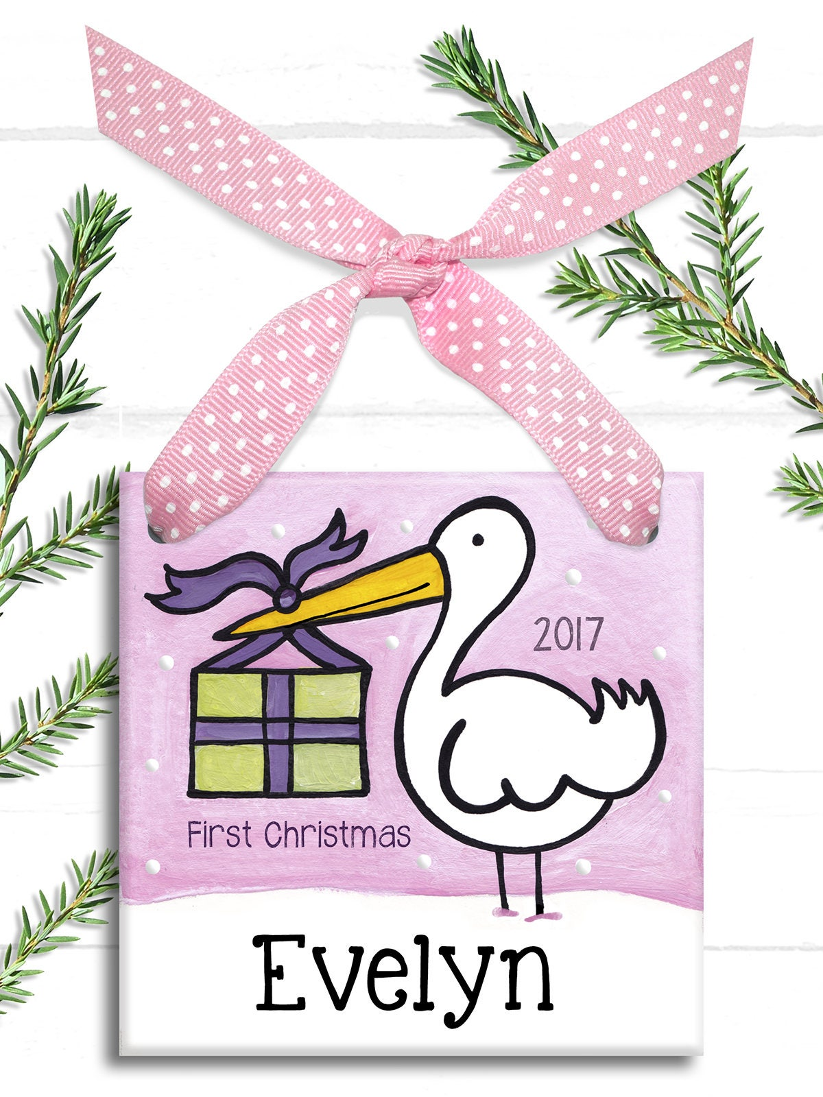 new baby ornament babys first christmas ornament stork baby ornament baby girl christmas first christmas ornament baby