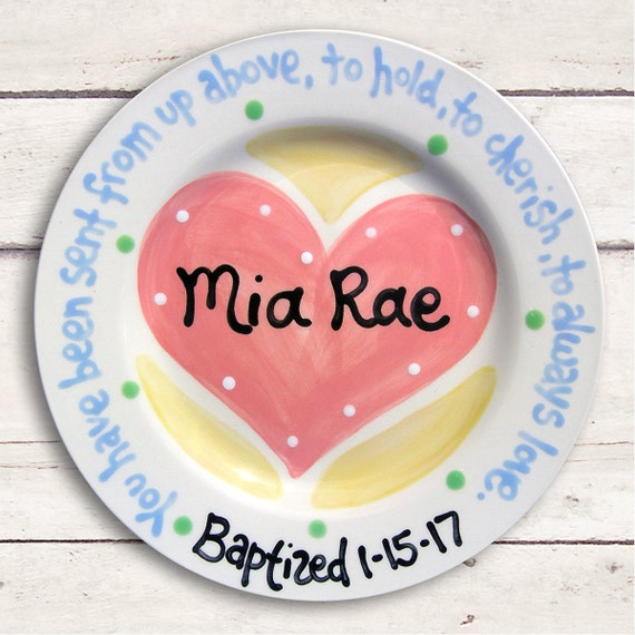 Goddaughter Gifts - Baby Baptism Gift - Goddaughter Baptism Gift - Gift from Godparents Baptism - Gift from Godmother - Personalized  Plate