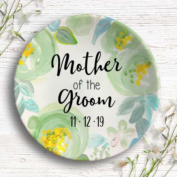 Mother of the Groom Gift from Bride - Gifts for Grooms Parents - Personalized Ring Dish - Wedding Gift for Mom - Future in Laws Gifts