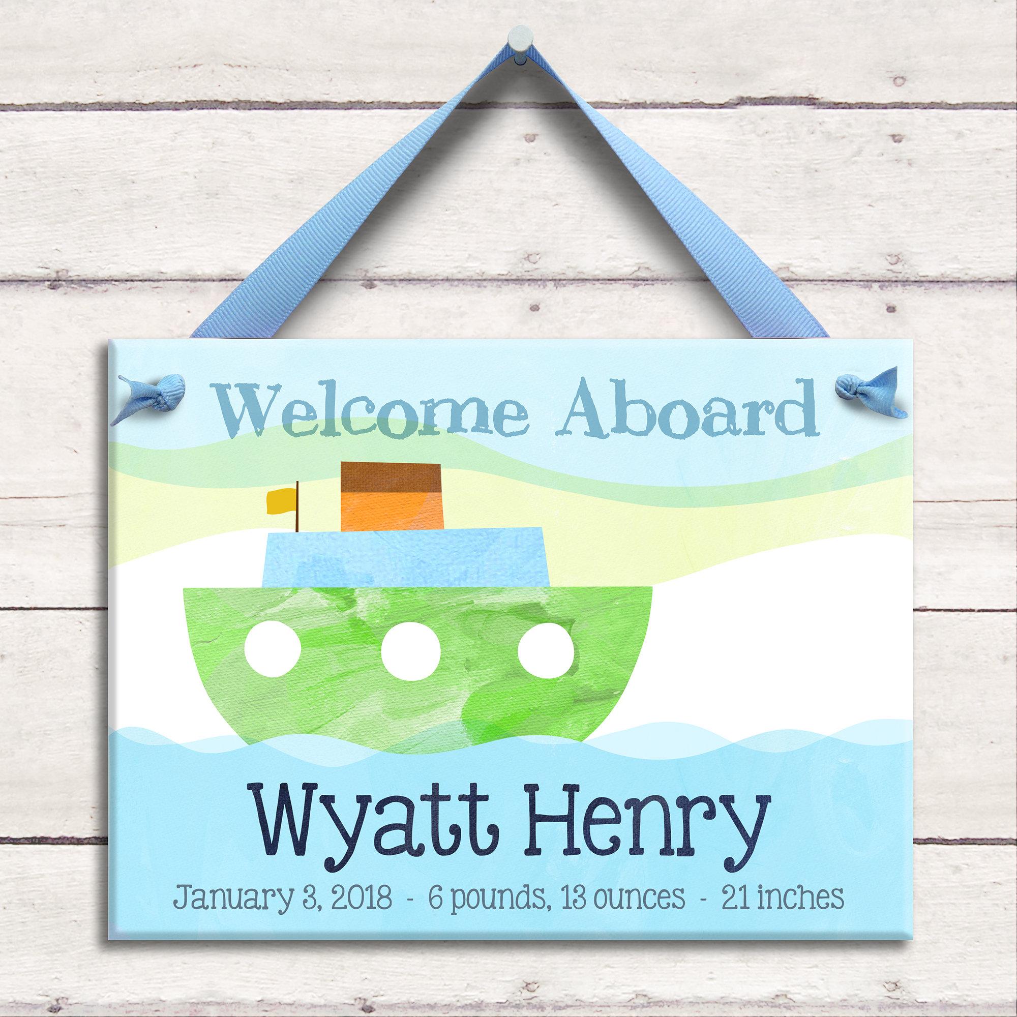 Baby Nash S Vintage Nautical Nursery: Personalized Baby Art Nautical Baby Nautical Nursery Decor