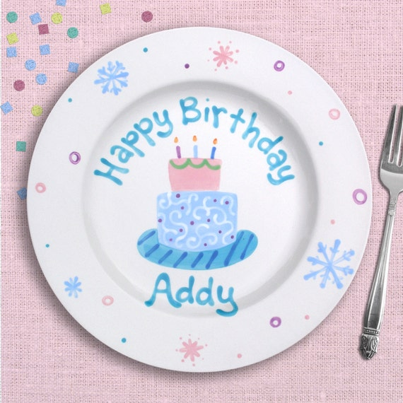 Frozen Birthday - Personalized Birthday Plate - Hand Painted Ceramic - Disney Frozen