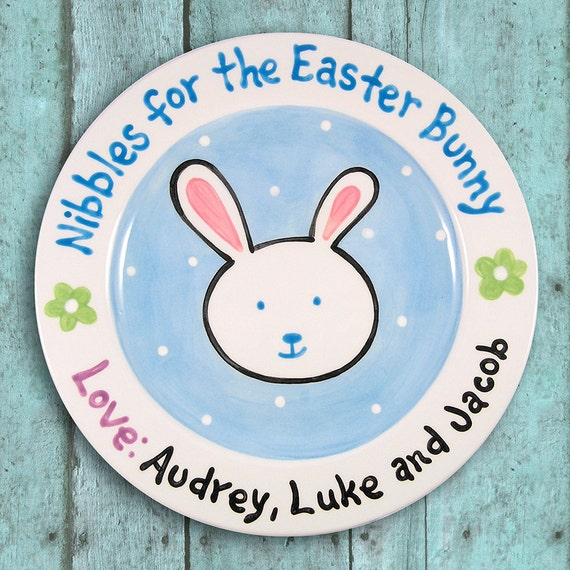 Easter Bunny Plate - Kids Personalized Tableware