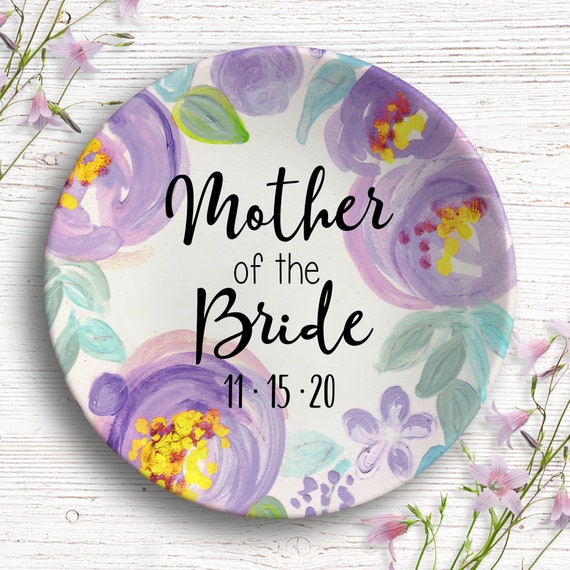 Mother of the Bride Ring Dish - Gift for Mom from Bride - Parent Wedding Gift - Wedding Party - Mother-of-the-Bride Present - Jewelry Dish