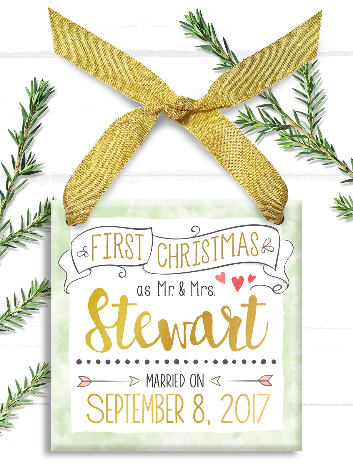 Our First Christmas as Mr and Mrs - Our First Christmas Ornament ...