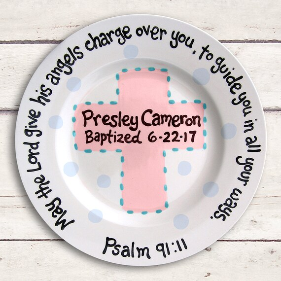 Christening Gift, Baptism Gift. Personalized Baptism Gift, Personalized Christening Gift, Unique New Baby Gift, Personalized Ceramic Plate