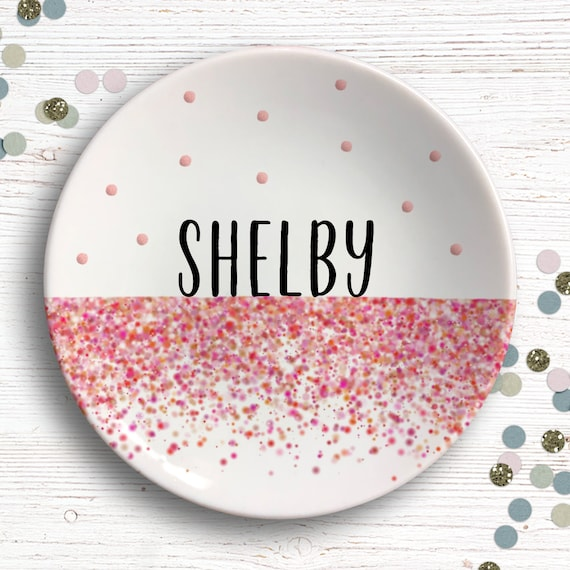 Personalized Ring Dish - Bridal Shower - Bachelorette Party Favors - Custom Ring Holder - Gift for Her - Ombre Bridesmaid - Gift for Friend