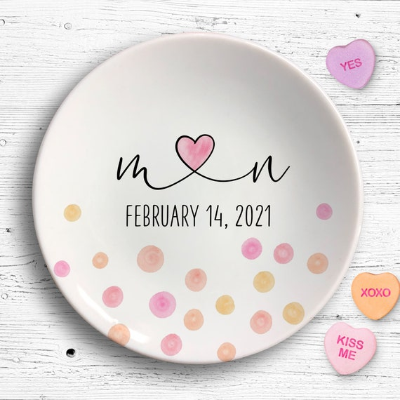 Valentines Day 2020, Personalized Ring Dish, Valentines Day Gift, Engagement Gift, Valentines Ring Dish, Engaged Gifts For Her, Ring Holder
