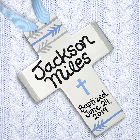 Baptism Gift Boy - Godchild Gift - Godchild Keepsake - Personalized Godchild Gift - Godchild Cross- Unique Godchild Gift - Baby Boy Cross