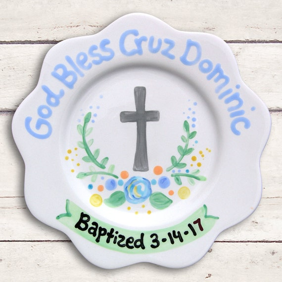 Baptism Gift - Girl Baptism - Blue Baptism - Christening Gift - Boy Baptism Gift - Godparents Gift - Baby Boy Baptism - Baptism Cross