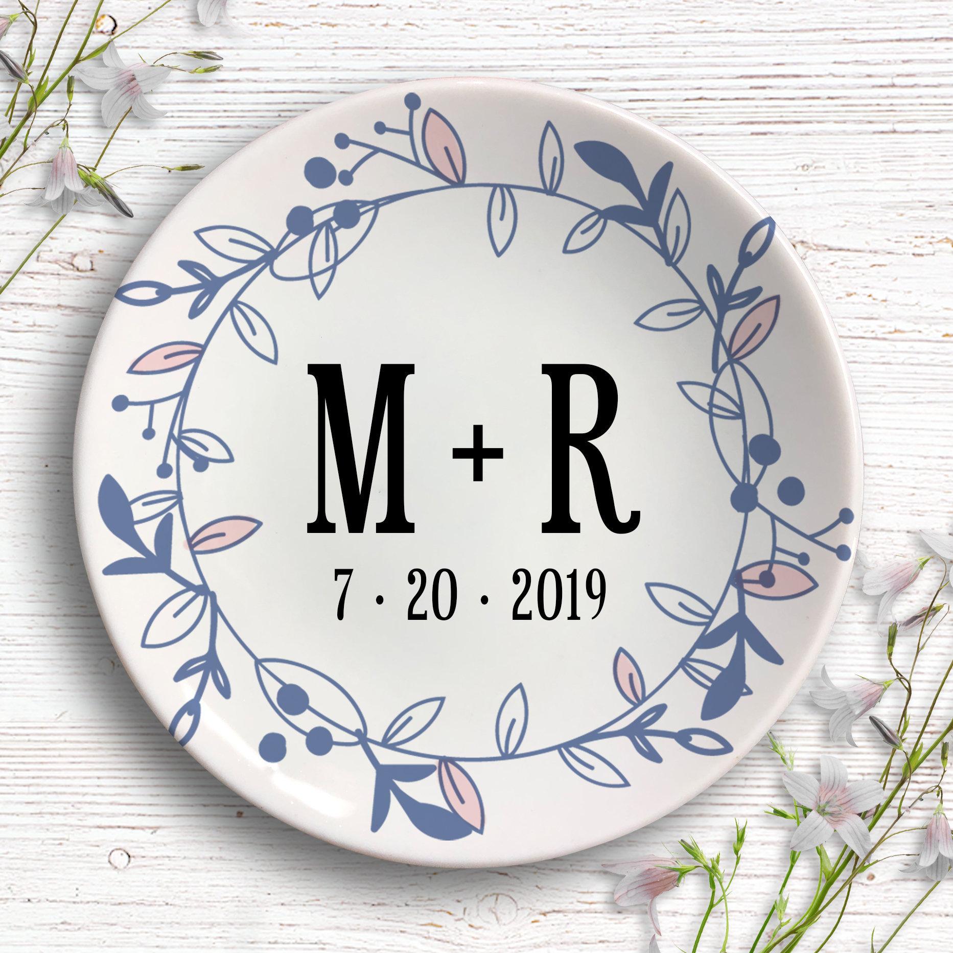 eb636e72e Personalized Wedding Ring Dish - Wedding Gift - Engagement Gift Ring Holder  - Jewelry Dish - Jewelry storage - Bridal Shower Gift - Trinket