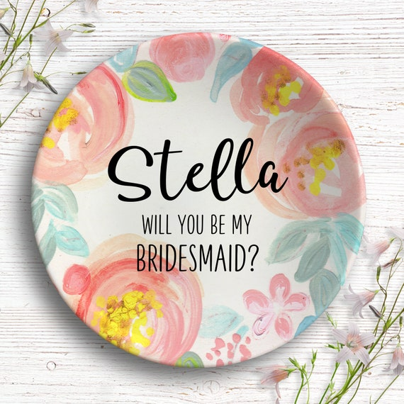 Bridesmaid Proposal Gift - Ring Dish - Will You Be My Bridesmaid? - Maid of Honor Proposal -  I Can't Say I Do Without You - Bridesmaid Card