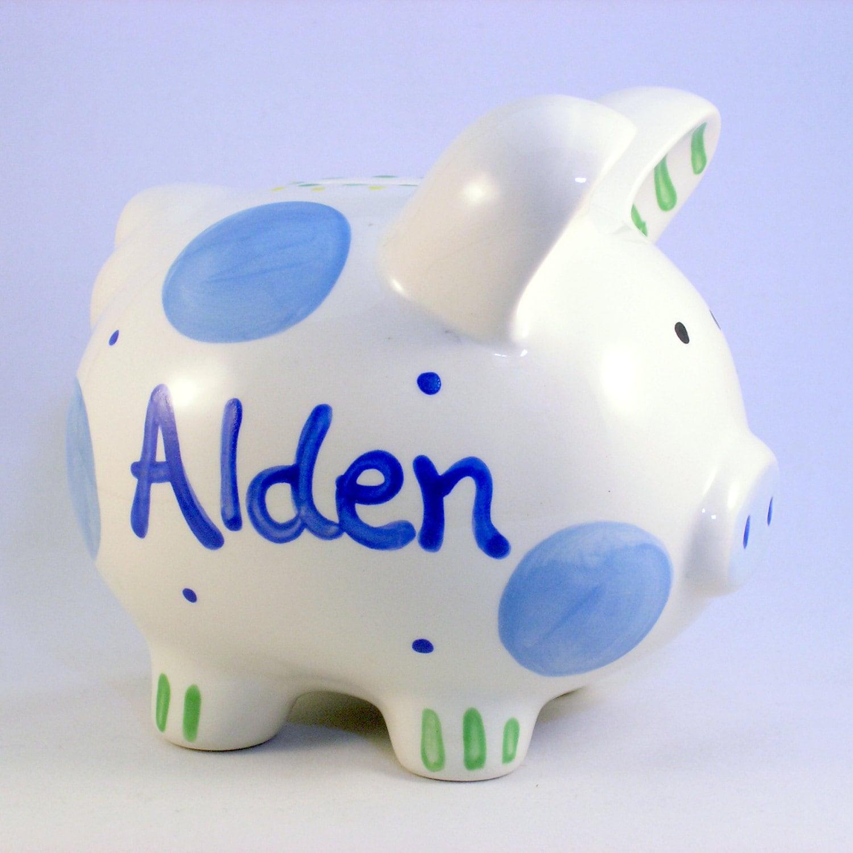 Personalized Piggy Bank Boy Piggy Banks Personalized