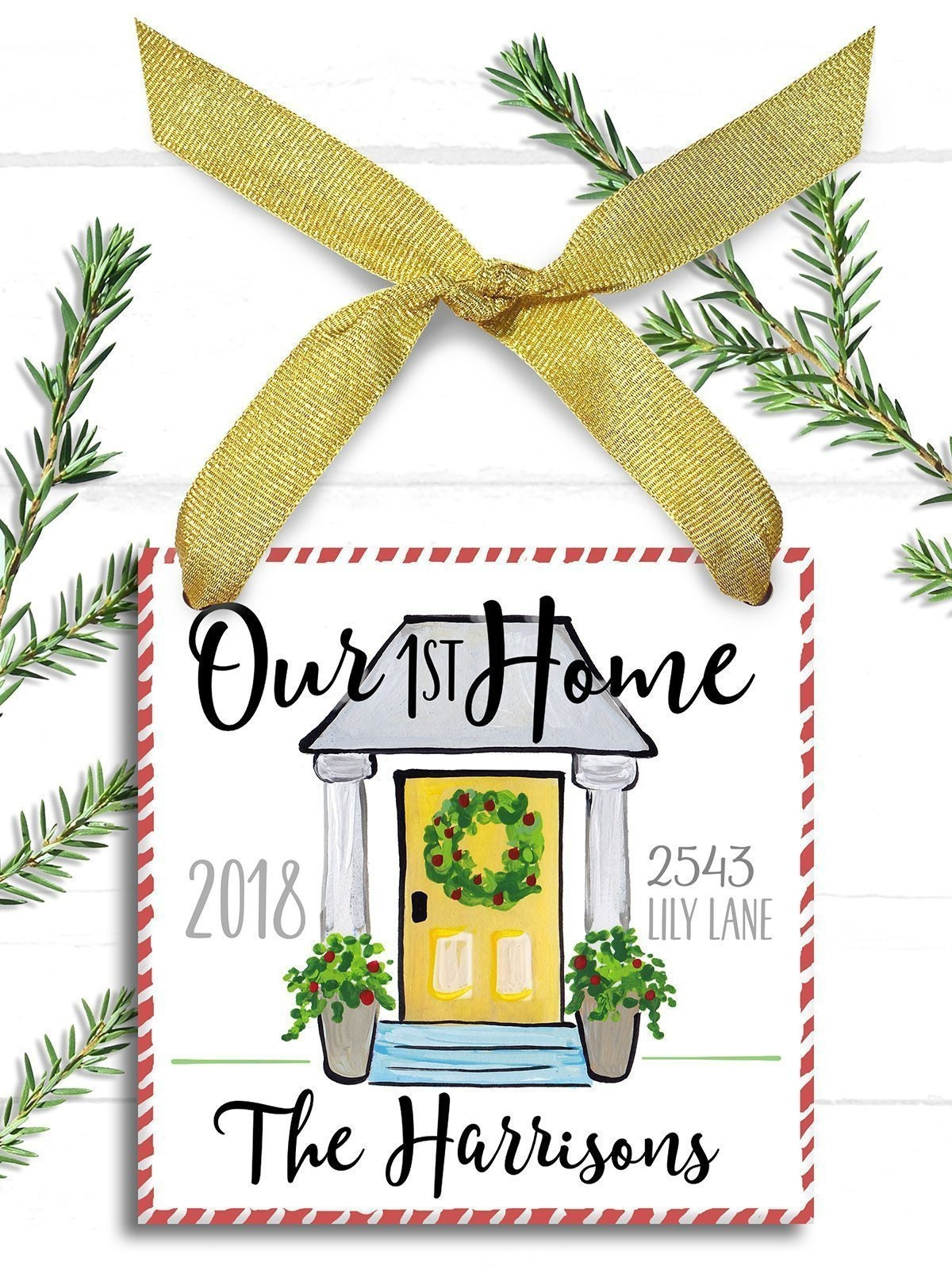 Our First Home Ornament- First Christmas New House Gift- Our First ...