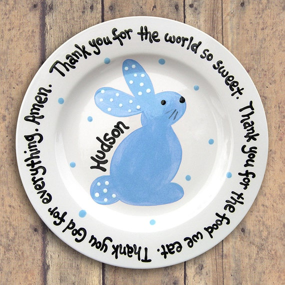 Spring Celebrations - Easter Plate, Easter Personalized , Personalized Tray, Personalized Gift, Monogrammed Gift, Housewares,