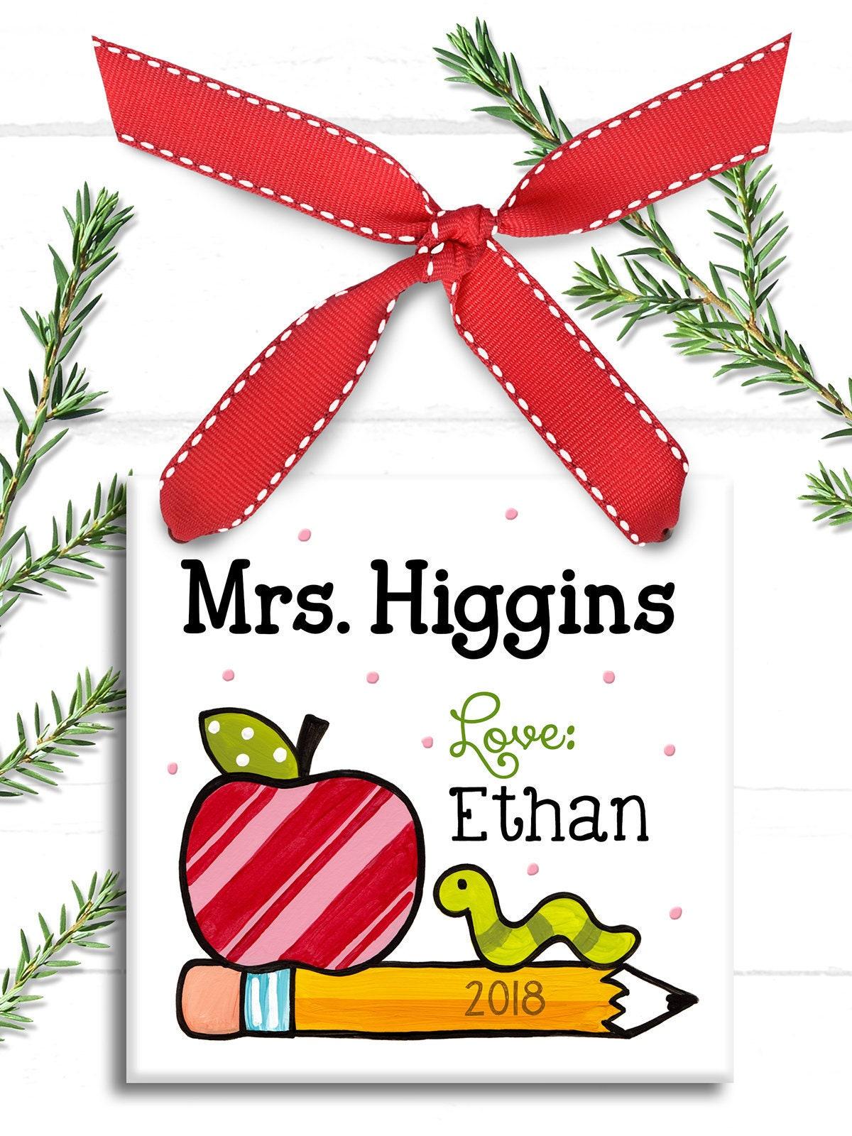 Lehrer Ornament Lehreranerkennungsgeschenk Kindergärtnerin   Etsy