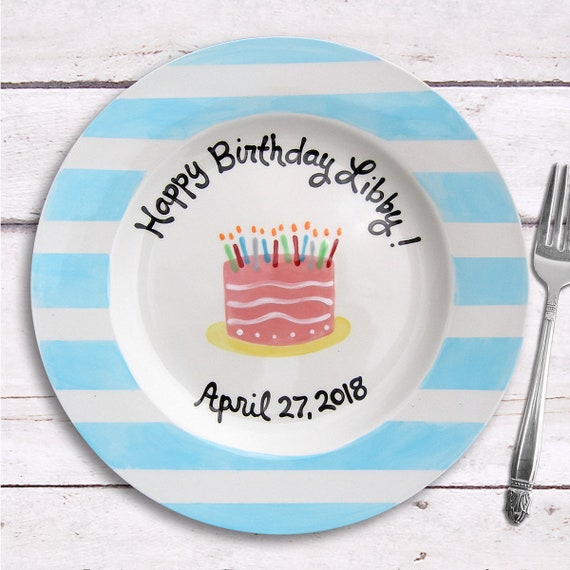 Birthday Cake Plate - Birthday Girl - Personalized Birthday Gift - Personalized 1st Birthday - Cake Smash - Birthday Party Decorations -