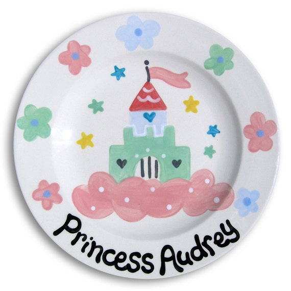 Princess Party - Personalized Girl Gift - Birthday Princess - Frozen Birthday - Personalized Birthday Plate - Hand Painted Ceramic Plate