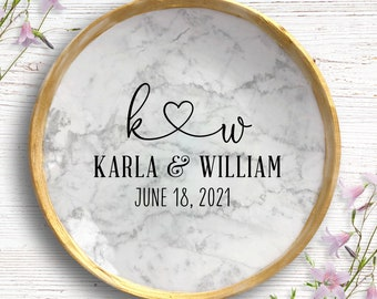 Personalized Ring Dish - Bridal Shower Gift - Ring Dish for Bride - Bride to be Gift - Newly Engaged Gift - Wedding Gift - Engagement Gift