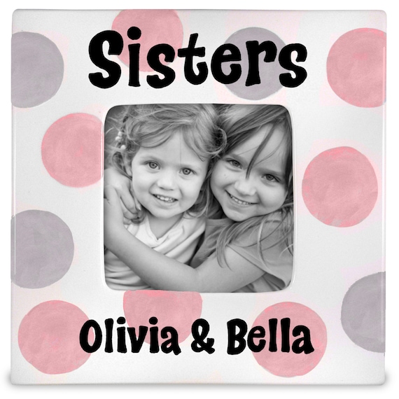 Personalized picture frame -  Sisers frame - Big Sister gift - Twin Sisters Gift - Twins Gift - Twin Boys
