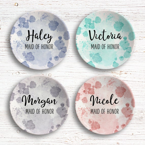 Maid of Honor Gift - Maid of Honor Ring Dish - Bridal Shower Gift - Bridal Party - Personalized Trinket Dish - Jewelry Holder - Jewelry Bowl
